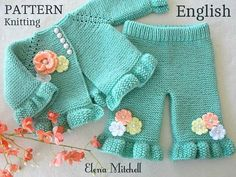 This Knitting PATTERN Baby Cardigan Baby Pants Baby Girl Outfit Pattern Baby Jacket Garter Stitch Knitted Baby Sweater Pattern Baby Girl Clothes is just one of the custom, handmade pieces you'll find in our tutorials shops. Baby Cardigan, Cardigan Au Crochet, Baby Pants Pattern, Crochet Baby Pants, Cardigan Bebe, Baby Sweater Patterns, Knit Baby Sweaters, Baby Clothes Patterns, Baby Hats Knitting
