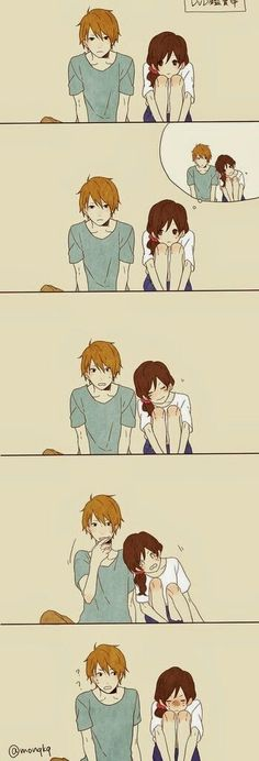 Funny/cute anime couple