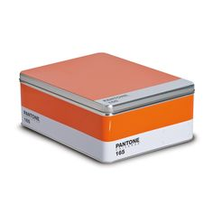 PANTONE Box in Orange - For the design maven within, this metal box celebrates a passion for pigments. This multipurpose storage solution mimics a PANTONE® palette, complete with color, name, and number.