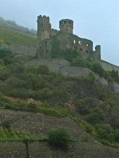 castles in romantic germany - the rhineland-palatinate | Ehrenfels Castle, in ruins, 10-18-14