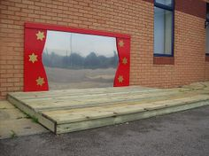 Pendlewood Learning Outside The Classroom- Theatre Stage Outdoor Stage, Outdoor Theater, Outdoor Play, Outdoor Decor, Outdoor Ideas, Eyfs Classroom, Outdoor Classroom, Music Tree, Outdoor Learning Spaces