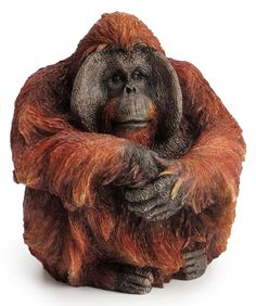 Three Wise Orangutans Figurines Orangutan Ornaments Sculptures Home Decorations
