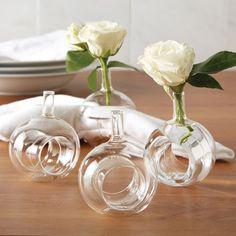 Sitting Pretty Set of 4 Bud Vases/Napkin Rings