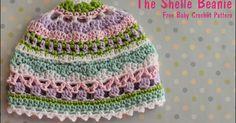 The Shelle Beanie by MammaThatMakes.blogspot.com A free baby crochet pattern