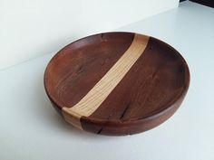 Wooden bowlfruit bowl perfect gift or accent by WoodBurningStudio