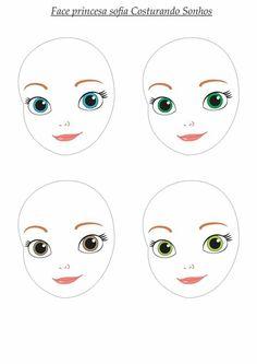 Best 12 Rainbow girls cloth doll faces ready to sew fabric panel rose shade – SkillOfKing. Doll Sewing Patterns, Doll Clothes Patterns, Doll Crafts, Diy Doll, Doll Face Paint, Flower Pot People, Cartoon Eyes, Doll Eyes, Fairy Dolls
