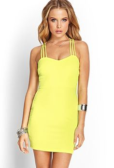 Strappy Crossback Bodycon Dress | FOREVER 21 - 2000121008