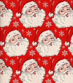 Santa Vintage Christmas Wrapping Paper