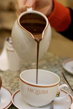 Chocolat chaud, Angelina in Paris - touted to be the best hot chocolate EVER!   ASPEN CREEK TRAVEL - karen@aspencreektravel.com