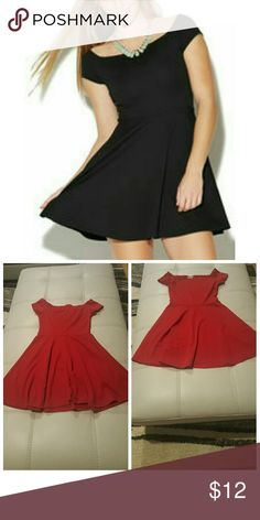 Textured Marilyn Dress This flirty dress features an allover textured stretchy knit body showcasing a marilyn neckline, short sleeves, and a fun skater skirt.? Rock this with some bangles and killer heels to complete your outfit.  97% Polyester / 3% Spandex Crush by ABC Family Dresses
