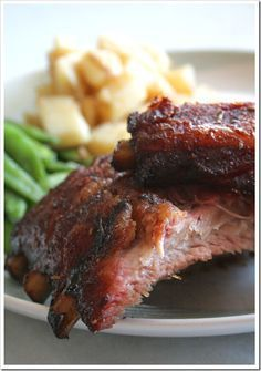 Brown Sugar Smoked Ribs...this was a bit hot/spicy, but we basted it with BBQ sauce & the ribs were out of this world good!!!