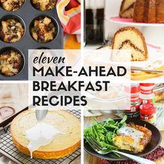 Hosting holiday brunch this year? Find great ideas you can prepare the night before in our list of 11 Make-Ahead Breakfast Recipes for a Crowd. ~ http://www.garnishwithlemon.com