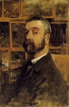 Realist Painter Anton Mauve ( Dutch:1838 – 1888)    Self-Portrait