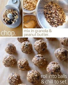 Love making these - especially for hectic school mornings. Breakfast Balls for kids.
