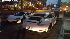 Spotted in Ivanhoe Village. Porsche GT3RS and McLaren 570S side by side. #carspotting #cars #car #carporn #supercar #carspotter #supercars