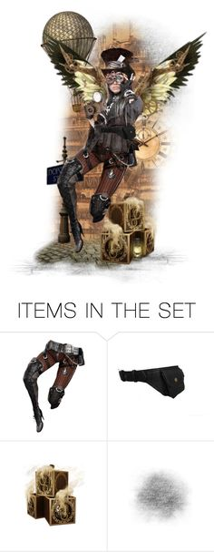 """""""Steampunk Wings - Angel Corps"""" by girlyideas ❤ liked on Polyvore featuring art"""