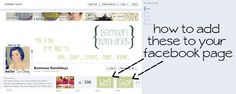 how to add a link to Facebook. adding image tabs to Facebook, tutorial facebook page help