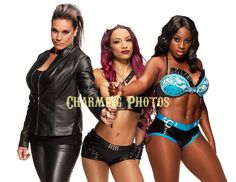 WWE Divas 04 8 5x11in Glossy Promotional Photo Sasha Naomi Tamina | eBay