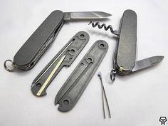 Andrzej Woronowski Custom Knives: Victorinox Swiss Army Knife scales 13
