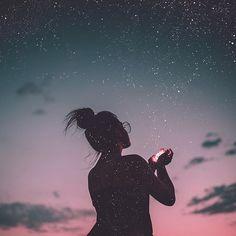 Ela reuniu estrelas para preencher seu coração.