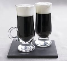 Irish Coffee  1 measure of Irish whiskey  2 tsp brown sugar  1 cup of strong coffee  2 tbsp chilled double cream  Put a measure of Irish whiskey into a heatproof glass with 2 tsp brown sugar. Pour in a strong coffee and stir until the sugar dissolves. Put the spoon onto the surface of the coffee, face up. Pour over 2 tbsp cold double cream, so the cream rests on the coffee.   Not just for St Patrick's Day!