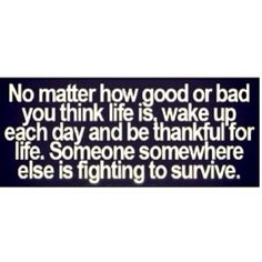 Be glad!