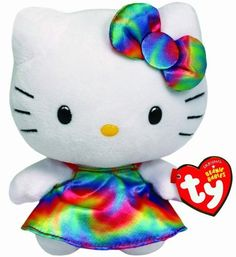 Ty 6inch Hello Kitty Rainbow Beanie by Ty Hello Kitty * Check this awesome product by going to the link at the image.Note:It is affiliate link to Amazon.