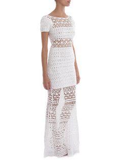 Вязаное крючком платье схемы и описание