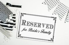 Set of 2  PRINTED Reserved for Bride or by freshlovecreations