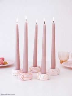 DIY Marbled Candle H