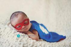 Newborn Superhero CAPE and MASK set. Cutest baby photo I've ever seen!