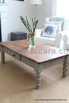 Silver Pennies: French Linen Coffee Table (beautiful table done with Annie Sloan Chalk Paint in French Linen. The perfect match to this color in a latex paint is Beige Shadow from Lowes Waverly Home Classics section. Mix the latex paint with Webster's Chalk Paint Powder for a cheaper alternative to the gorgeous ASCP. www.beneathmyhear... ) #latex #sexy #ladies #women #latexskirt #latexdominate #latexboss #shiny #fashion #latexshopping #buylatex #skirts