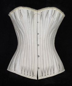 Manufacturer: Royal Worcester Corset Company  (American, 1864–1950) Date: ca. 1885 Culture: American Medium: Cotton, metal, bone Credit Line: Brooklyn Museum Costume Collection at The Metropolitan Museum of Art, Gift of the Brooklyn Museum, 2009; Gift of E.A. Meister, 1950