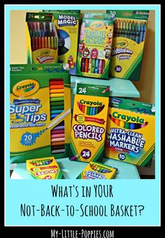 What's in YOUR Not-Back-to-School Basket | My Little Poppies  Our family has a not-back-to-school tradition: Not-Back-to-School Baskets!  Because homeschoolers need school supplies, too!