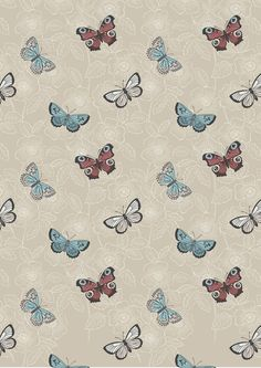 Lewis & Irene The Botanist Natural Butterfly Sketch Cut Length