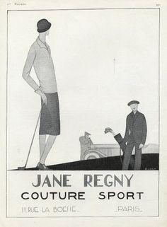 Le donne praticano ogni tipo di sport. Il completo da golf composto da gonna a pieghe e una camicia lunga fino ai fianchi