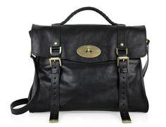 MulberryOversizedAlexaBuffalo-leatherBagBlack