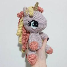 "123 Likes, 22 Comments - Crochet Unicorns and Toys (@ems_patty) on Instagram: ""A vintage baby unicorn! #oldisnewagain #vintage #customgift . . . . . .  #handmadetoys…"""