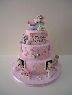 Tender bears for Christening! - by Diletta Contaldo @ CakesDecor.com - cake decorating website