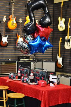 born to rock, rock star party, birthday express, rock party Music Theme Birthday, Music Themed Parties, Music Party, 2nd Birthday Parties, Rockstar Party, Rockstar Birthday, Party Rock, Star Wars Party, Festa Rock Roll