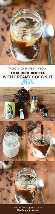 If you enjoy coffee, then you'll love this Thai iced coffee spiced with cardamom and almond extract with creamy coconut milk! Get the recipe here: http://paleo.co/thaiicedcoff