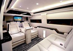 Mercedes Benz Sprinter luxury interior.