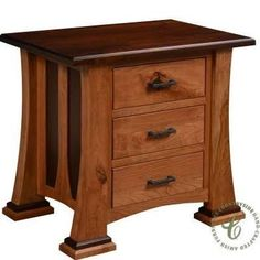 two tone amish nightstand - Google Search