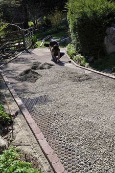 The CORE Gravel foundation panels easily clip together and can be shaped to any landscaping plan. shed landscaping shed landscaping landscaping flower beds landscaping gravel of shed landscaping Permeable Driveway, Driveway Edging, Concrete Walkway, Gravel Driveway, Driveway Entrance, Driveway Landscaping, Backyard Landscaping, Driveways, Rock Driveway