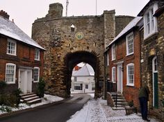 Rye in the snow!   East Sussex, UK