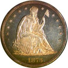Seated Liberty Dollars - 1873 S One Dollar PF