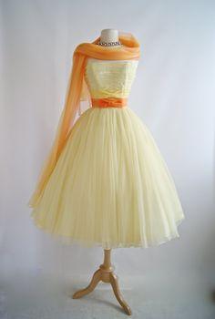 Vintage 1950s Emma Domb Prom Dress 50s Prom by xtabayvintage