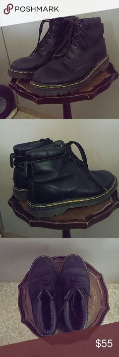 Dr. Martens made in England Black leather boots with comfort ankle Dr. Martens Shoes Boots