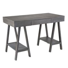 Writing Desk, Office Furniture, Dining Table, Gray, Board, Alaska,  Southern, Guest Bed, Open Shelving