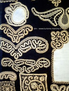Offida: Lace works. Marche - Italy